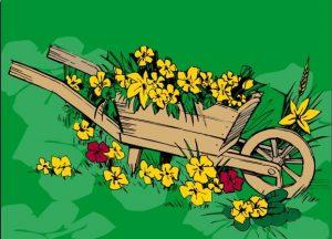 Bloemen aanhanger